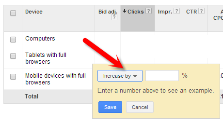 Tablet Bid Adjustments in Google AdWords
