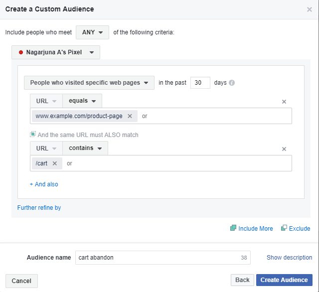 Facebook Retargeting Ads for Cart Abandonment Users